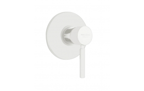 built in shower mixer Form A with 1 water outlet, mat white