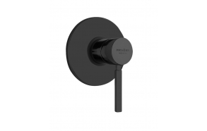 built in shower mixer Form A with 1 water outlet, mat black