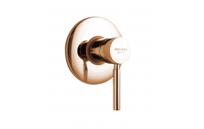 built in shower mixer Form A with 1 water outlet, pink gold