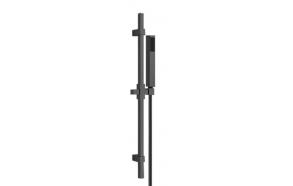 Brass sliding rail complete, mat black