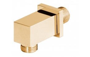 "1/2"" M x 1/2"" M water connection, gold"