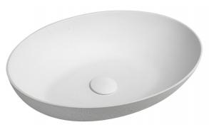 betoonist valamu põhjaklapiga FORMIGO 60x14x36,5 cm, mattvalge