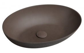 betoonist valamu põhjaklapiga FORMIGO 60x14x36,5 cm, tumepruun