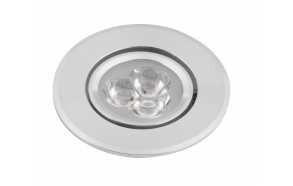 DORIN LED süvistatav laevalgusti 3x1W, 230V, 68mm, külm valge, 60st.