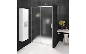 SIGMA SIMPLY Sliding Shower Door 1000mm, glass Brick