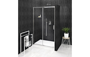SIGMA SIMPLY Sliding Shower Door 1000mm, clear glass
