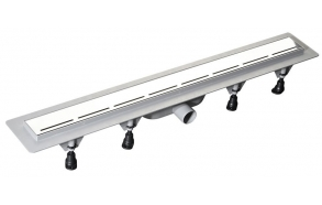 ROAD plastic gutter with stainless steel grate, L=820mm