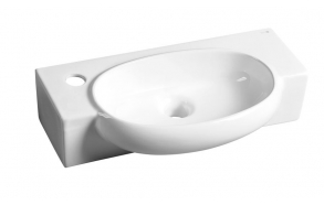 AVE Ceramic washbasin 50x13x27,5cm, white