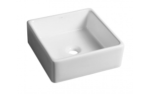 UBEGA ceramic washbasin, 38x13,5x38 cm, top counter