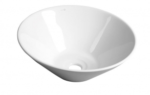 keraamiline valamu Comillas tööpinnale, 42 cm, valge