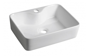 BALENA ceramic washbasin, 48x13,5x37 cm, top counter