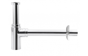 washbasin siphon 5/4', waste dia. 32mm, round, chrome