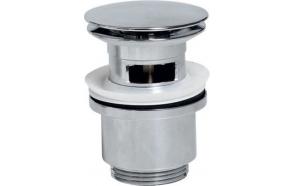 Push Button Round Basin Waste, big plug, chrome, diam 67 mm 1 1/4´´