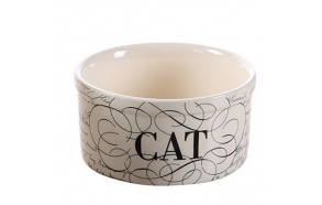 "5"" Round Dolomite Cat Bowl"