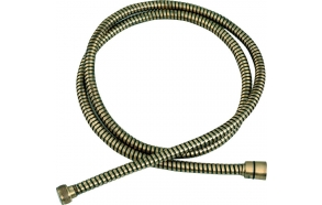 Metal braided shower hose, 150 cm, bronze