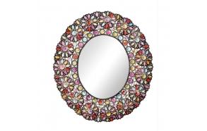 """29""""L x 32-5/8""""H Metal & Acrylic Framed Mirror"""