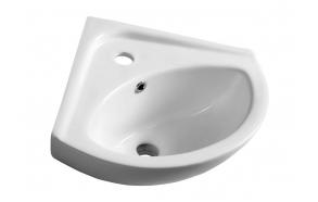 keraamiline nurgavalamu Luigi 34x34 cm, valge