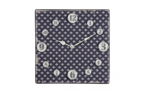 "13-3/8""Square Metal Clock w/Magnet Numbers ©"