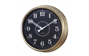 "15-1/2"" Round Metal Clock"