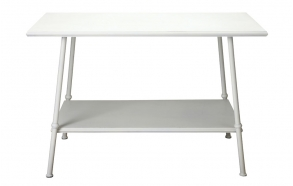"44-1/2""L x 24""W x 29""H MetalTable, Cream"