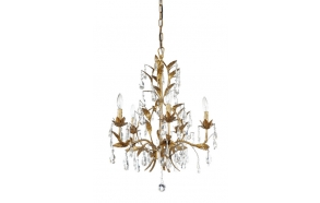 "21"" Round x 29-1/2""H Metal Chandelier w/ Crystals,  (40 Watt Bulb Maximum)"