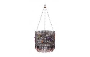 "13-3/4"" Round x 11""H Metal &Acrylic Hanging Lamp (40W MAX)"