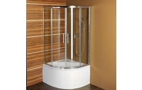 SELMA Quadrant Sliding Door Shower Enclosure 900x900x1500mm, clear glass, without tray