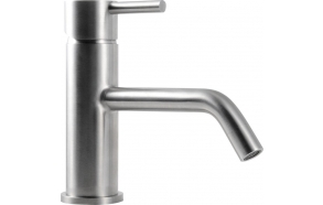 MINIMAL basin mixer without pop up waste, stainless steel