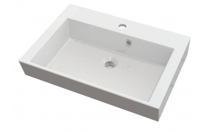 ORINOKO Cultured Marble Washbasin 60x15x45cm, white