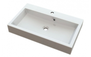ORINOKO Cultured Marble Washbasin 70x10x42cm, white