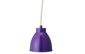 Retro hanging lamp w/purple shade