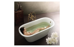 Cast stone bath VARIO ROUND
