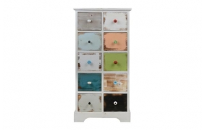 Wooden cabinet Patchy, 55x37x109.5cm