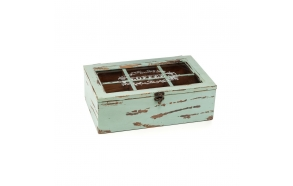 wooden teabox