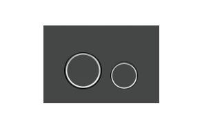 FOKA flushing plate M11 black+chrome