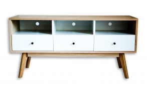 tv stand Nordic, oak+white