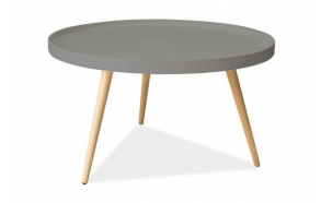 coffee table Nordic, oak+grey