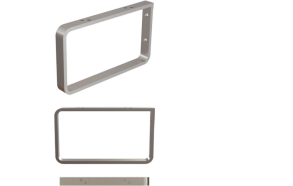 chromed brackets, 2 pcs, to hang the wasbasin on the wall, 210*120*20 mm