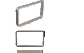 kroomitud kandurid (2 tk) valamu seinale paigaldamiseks, 210*120*20 mm