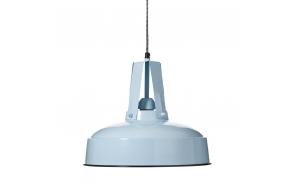 metal industrial pendant lamp, blue