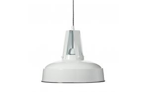 metal industrial pendant lamp, white