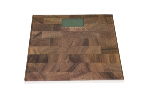 WOOD EFFECT DIGITAL BATHROOM SCALE