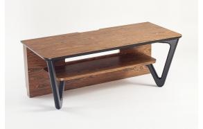 TV table, american oak+white