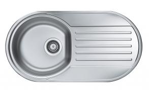 ümar köögivalamu FORM 40 töötasapinnaga, 83.2x43.7x15 cm, äravool 3 1/2´´, roostevaba, linatekstuur. Sifoon ei kuulu komplekti.