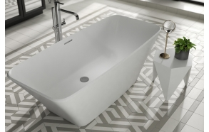 cast stone bath Anglesey, 170x75 cm, mat surface