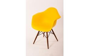 chair Beata, yellow, light brown feet