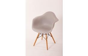 chair Beata, light grey, beech feet