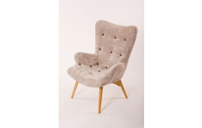 armchair Burg, grey fabric