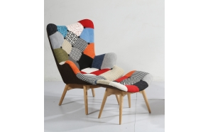 armchair Burg, patchwork fabric