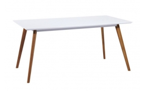 dining table Nordic, white/oak 160x90 cm